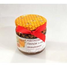 Мед з пилком  (в акацієвому медові), 100мл