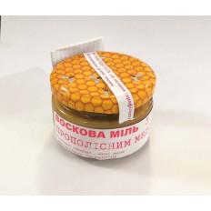 Прополісний мед з восковою міллю 100мл